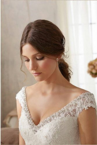 Mori Lee 5201 Beautiful Lace, Pearled & Rhinestoned Mermaid Wedding Gown Dress