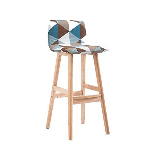 SjYsXm-Bar stool Taburete de Bar de Madera Silla Alta Taburete Alto Silla de Escritorio Silla de Comedor con Funda de Asiento...
