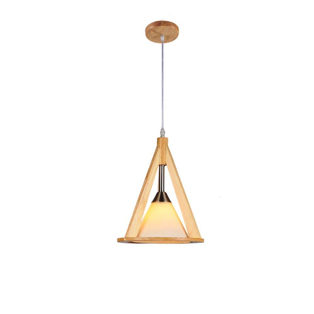 1ライト 木製シーリングペンダントランプガラスシェード 小型シャンデリア 屋内サスペンションライト リビングルーム モダン 寝室 シャンデリア 天井照明 B07GQQ1FX2