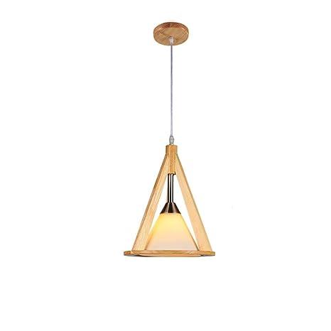 KMYX 1-Light Lámpara de Techo de Madera Lámpara de Techo de ...