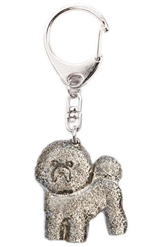 Bichon Frise Made in U.K Artistic Style Dog Key Ring Collection