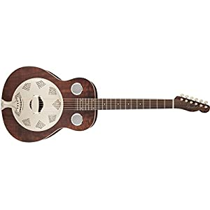 9f8ac410fc5 Fender Acoustic Guitars Folk Music Instruments 955006092 Derby Reso-Phonic  Guitar, Brown