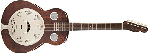 Fender Acoustic Guitars Folk Music Instruments 955006092 Derby Reso-Phonic Guitar, Brown