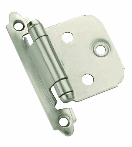 Amerock TEN3429-G10 Decorative Self Closing Face Mount Hinge, Satin Nickel, 10-Pack