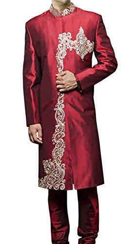 INMONARCH Mens Bollywood Designer Sherwani SH412 44XL Maroon