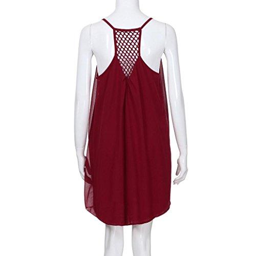 Cartas vestido Vestidos Vestido Casual mujer Casual Suave Verano Mujer Off y Rojo 2 Hombro impresión Verano de Sonnena Suelto 2018 Playa 5fEqvE