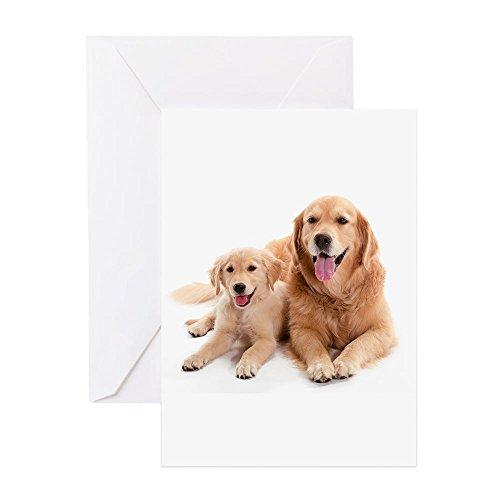 (CafePress Golden Retriever Buddies Greeting Card, Note Card, Birthday Card, Blank Inside Matte )