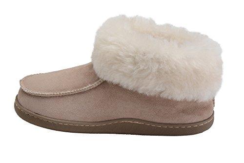 Luxe Blanc Vogar De Mouton Chaussons Avec Laine Beige Double Pantoufles Peau Manchette Chaussures Femmes W66 Chaud rrZq15wC