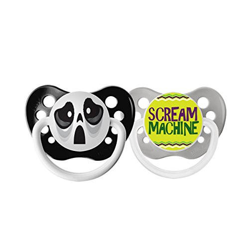 Ulubulu Holiday Pacifier, Halloween Ghost andScream Machine, 0-6 Months -