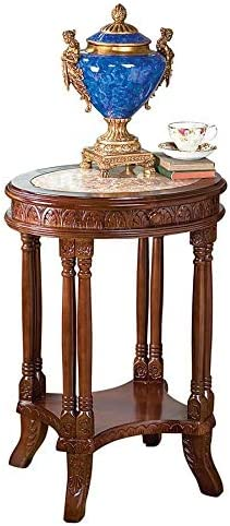 Design Toscano Balfour Inlaid Marble Colonnade End Table