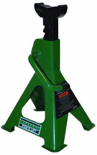 Maasdam MPL4117 Jack Stand Pair, 2 Ton Weighing Capacity, Green by Maasdam