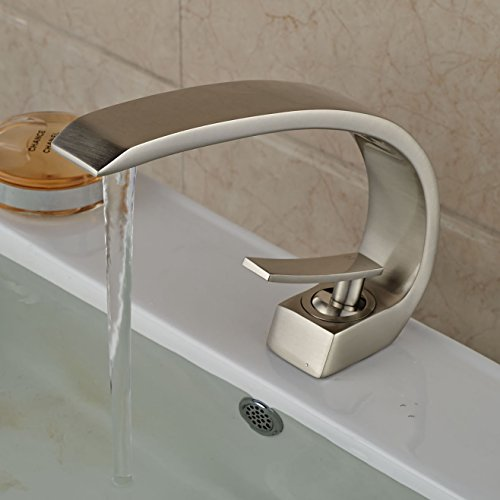 Rozin Creative Design Single Lever Bathroom Sink Faucet Brushed Nickel - Art Deco Faucets