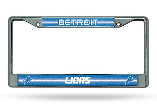 NFL Detroit Lions Bling Chrome License Plate Frame