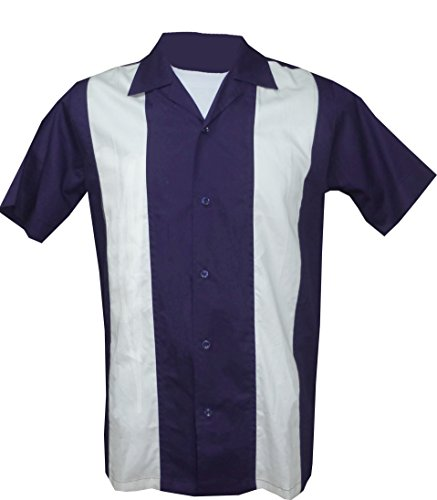 - 1950s/1960s Rockabilly,Bowling, Retro, Vintage Men's Shirt (XX-Large) Purple