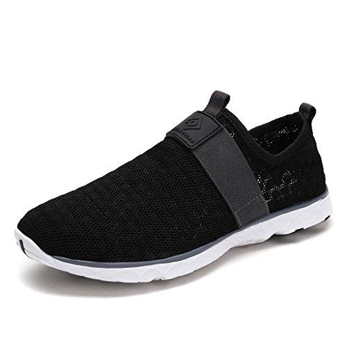 DREAM PAIRS Men's 1611026-M Black Grey Slip On Water Shoes - 10 M US