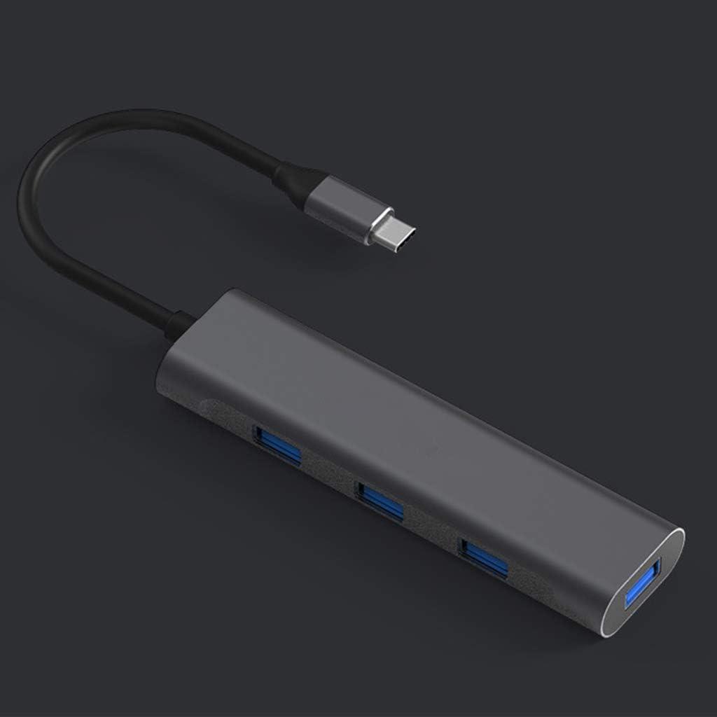 TypeC ZOOMY 4 in1 USB C Hub Dongle Adaptador para laptops Tipo C
