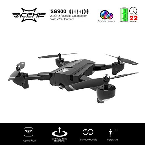 Fantasyworld SG900 Quadcopter Plegable 2.4GHz 720P Drone ...