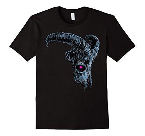Mens Nightmare Halloween Demonic Goat Skull Costume T-shirt Medium (Demonic Costumes)