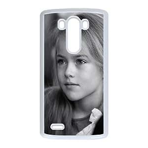 LG G3 Cell Phone Case White hd74 kristina pimenova cute girl model bw dark LV7066072