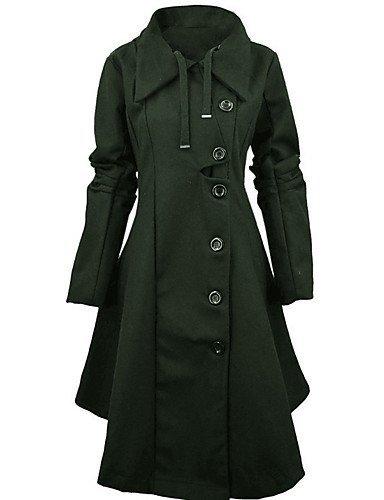atteint Hiver Les Sommet Ont Femmes HBA Chic d'automne Rue Vintage Simple Un Manteau Sortir Grande Taille ZnOwqxnB