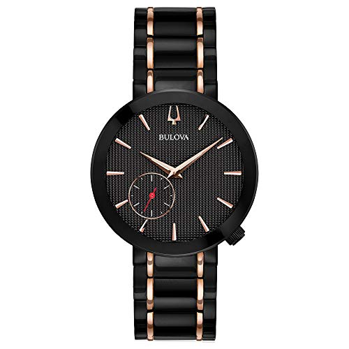 Bulova 98L240 Special Latin Grammy Edition Modern Women's Watch Black/Rose Gold 35mm Black IP Plated Stainless Steel Case