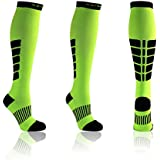 X31 Sports Knee High Compression Socks for Running Womens and Mens