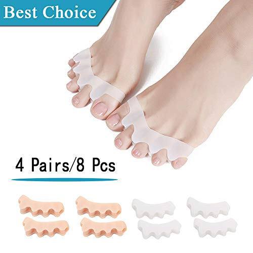 (8PCS) Bunion Corrector, Toe Straightenen,Gel Toe Separator, Toe Spacers,Silicone Toe Stretchers Best for Bunion Corrector,Nail Corrector,Hammer Toe,Reduces Foot&Toe Pain/for Men and Women.
