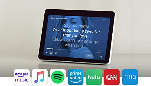 Echo Show (2nd Gen) Bundle with Echo Flex and Philips Hue Bulb - Alexa smart home starter kit - Sandstone