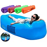FANCYOUT Fast Inflatable Air Lounger, Portable Air Sofa Hammock, Waterproof Air Pouch Leakproof Design, Lightweight Air Couch Backyard/Beach/Traveling Camping Picnics/Music Festivals