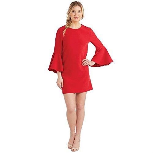Mud Pie Poinsettia Brooks Bell Sleeve Dress Large,Red