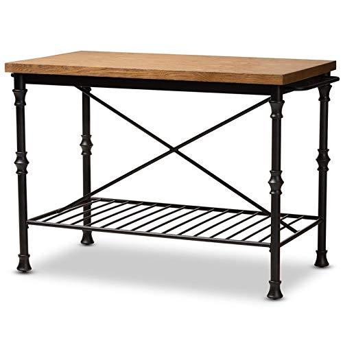 Amazon.com: Baxton Studio Perin - Mesa multiusos de madera y ...