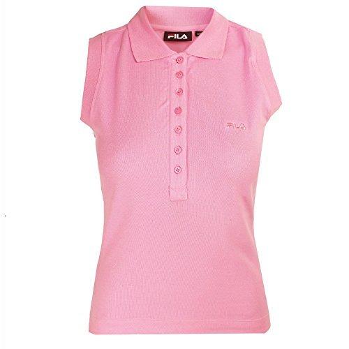 FILA POLO ANGUILLA Donna Prism rosa senza maniche Golf ...