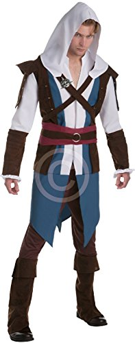 Mens Assassins Creed 4 IIII Edward Kenway Halloween Game Gaming Convention Cosplay Carnival Fancy Dress Costume Outfit (Men: Large) -