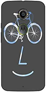 Snoogg Public Bike Poster 2923 Designer Protective Back Case Cover For Moto X2