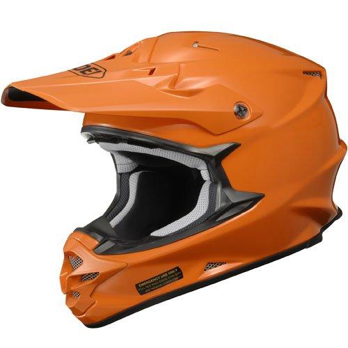SHOEI VFX-W Pure Orange Solid Off-Road Helmet - XS - 3 Road Solid Helmet Off