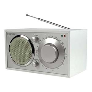 Radio AM/FM de diseño retro color blanco