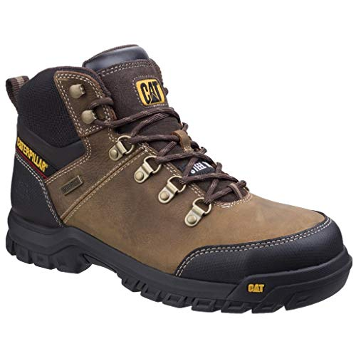 Caterpillar Mens Leather S3 Boots Safety Work Ankle Black Waterproof Steel...