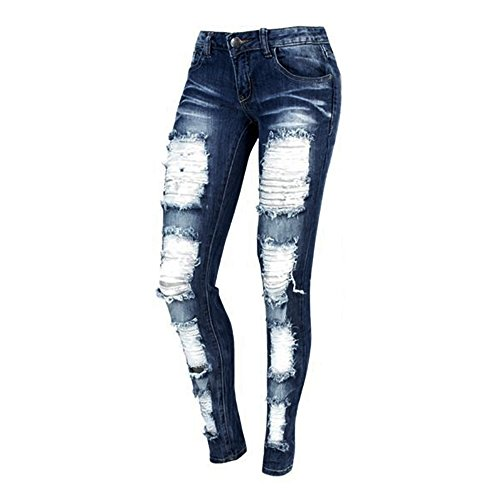 (Jeans for Women Ripped High Waisted Skinny Distressed Boyfriend Jeans Pants)