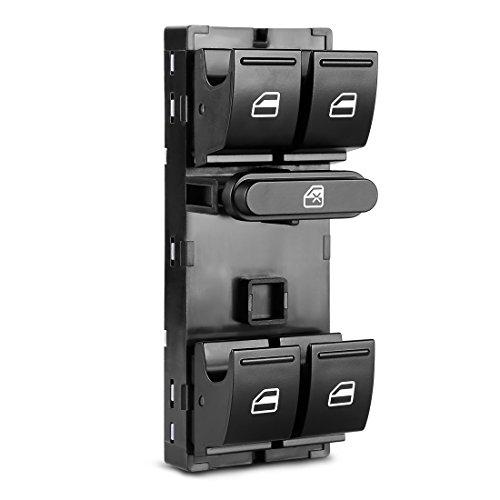 AUTOSAVER88 Power Master Window Switch - for VW 2005-2015 Jetta Golf Rabbit GTi Passat CC Tiguan Vento 4-Doors - 1K4959857B, 5ND959857, 7L6959857A