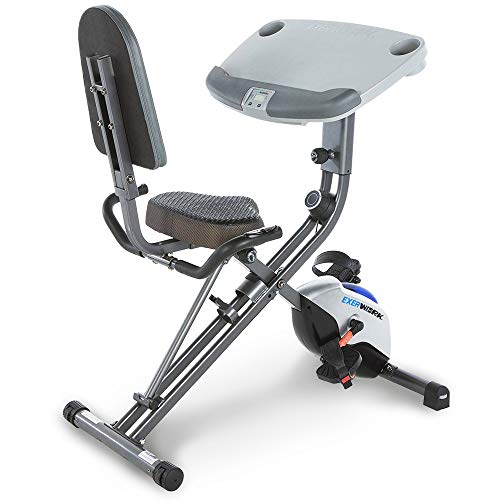 Exerpeutic ExerWorK 1000 Fully Adjustable Desk Folding Exercise Bike with Pulse Reviews