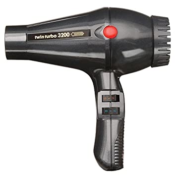 Turbo Power Twin Turbo 3200 Hair Dryer - Grey Metallic