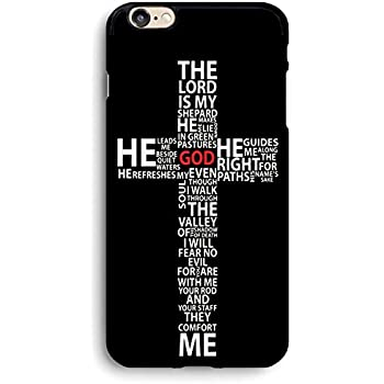 Jesus Christ Christian Cross Quote Psalm 23 iphone case