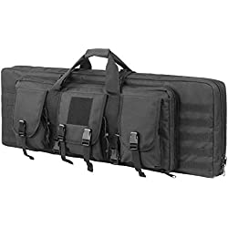 ARMYCAMOUSA 42 Inch Double Rifle Bag Outdoor Tactical Carbine Cases Water dust Resistant Long Gun Case Bag for Hunting Shooting Range Sports Storage and Transport