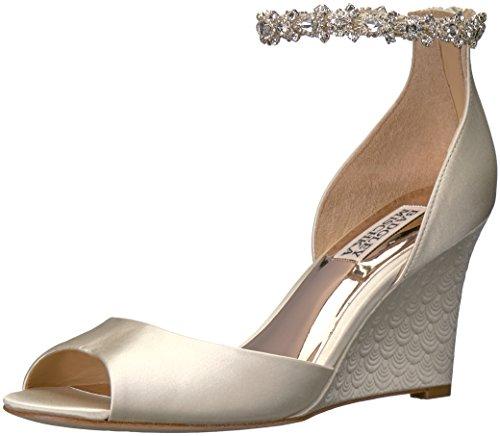 Badgley Mischka Women's Tahlia Wedge Sandal, Ivory, 7.5 M US
