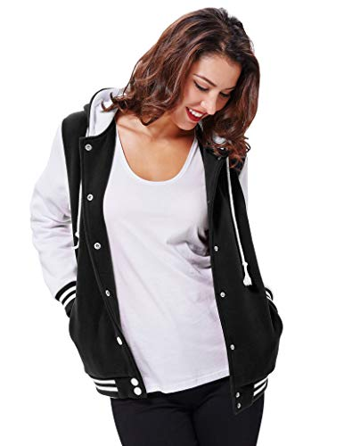 Contrast Kasin Long Classic 1 Baseball Fit Hooded kk481 KK481 Coat Color Sleeves Womens Tops Kate qIUdxwXHd
