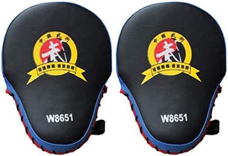 LIOOBO 空手ムエタイスパーリング用ミットをトレーニングする1ペアキックボクシンググローブハンドターゲットパッド(赤)