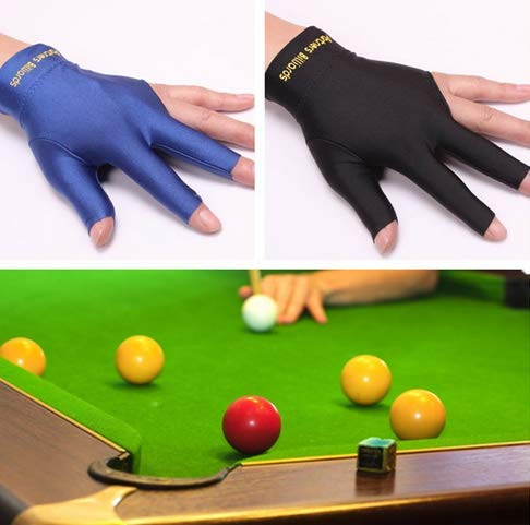 Fantastic Deal! Shni 1 Piece Elastic Lycra 3 Fingers Pool and Billiard Glove - Fits Both Men and Wom...
