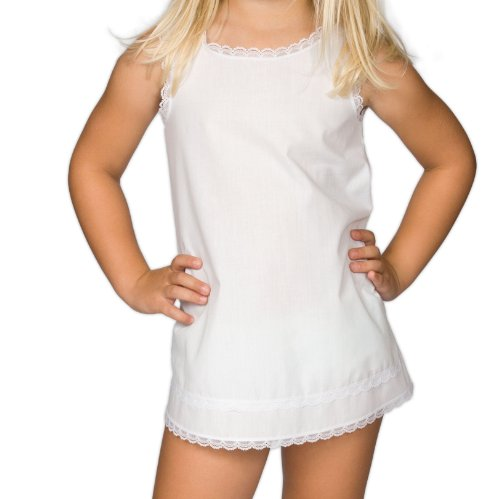 I.C. Collections Little Girls White Simple A-Line Slip, 3T -