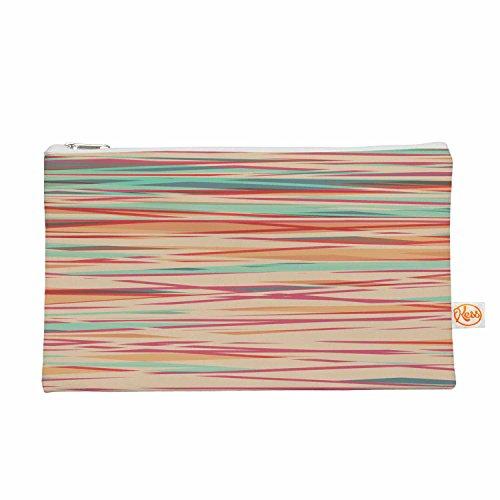Kess eigene 12,5x 21,6cm Michelle Drew gestreifte Holz Bark Alles Tasche–Koralle Streifen