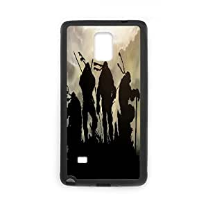 TMNT Design personlized style round dog tag pet tag ,TPU Phone case for SamSung Galaxy Note4,black